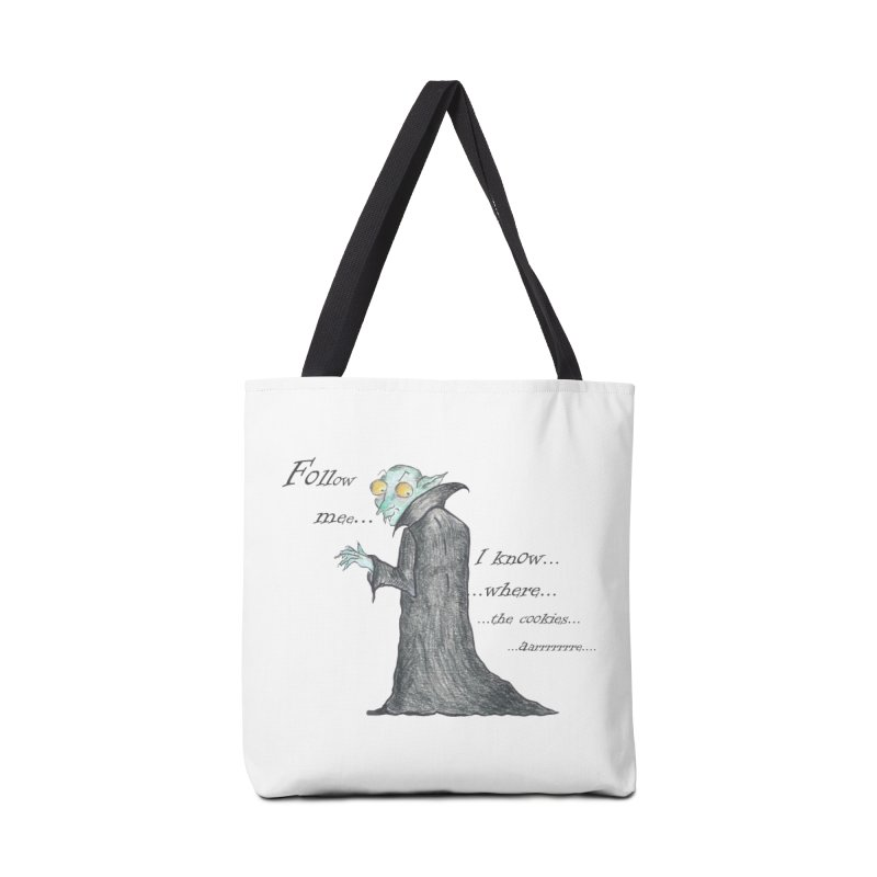 Follow Me, says the Vampire Accessories Tote Bag Bag by Brigitte Doernerova - Imaginista Designs