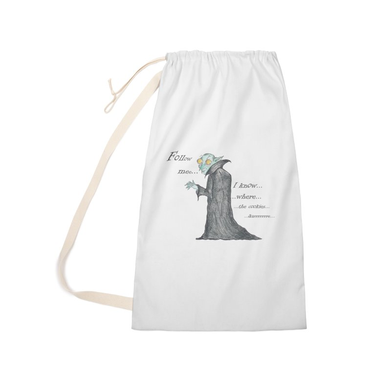 Follow Me, says the Vampire Accessories Laundry Bag Bag by Brigitte Doernerova - Imaginista Designs