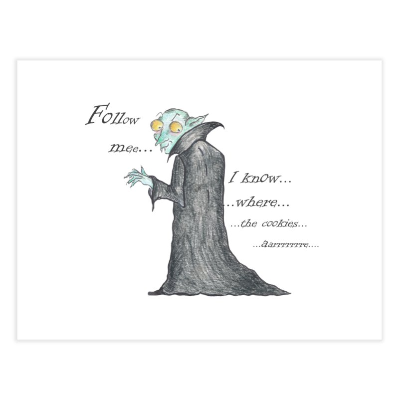 Follow Me, says the Vampire Home Fine Art Print by Brigitte Doernerova - Imaginista Designs