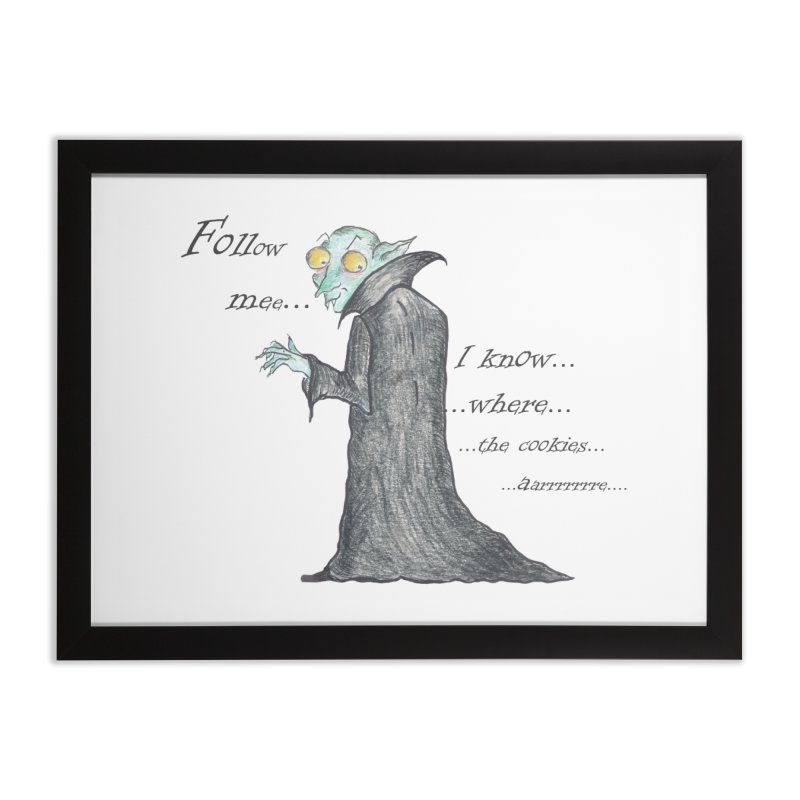Follow Me, says the Vampire Home Framed Fine Art Print by Brigitte Doernerova - Imaginista Designs