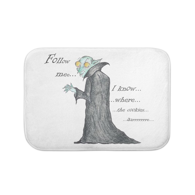 Follow Me, says the Vampire Home Bath Mat by Brigitte Doernerova - Imaginista Designs
