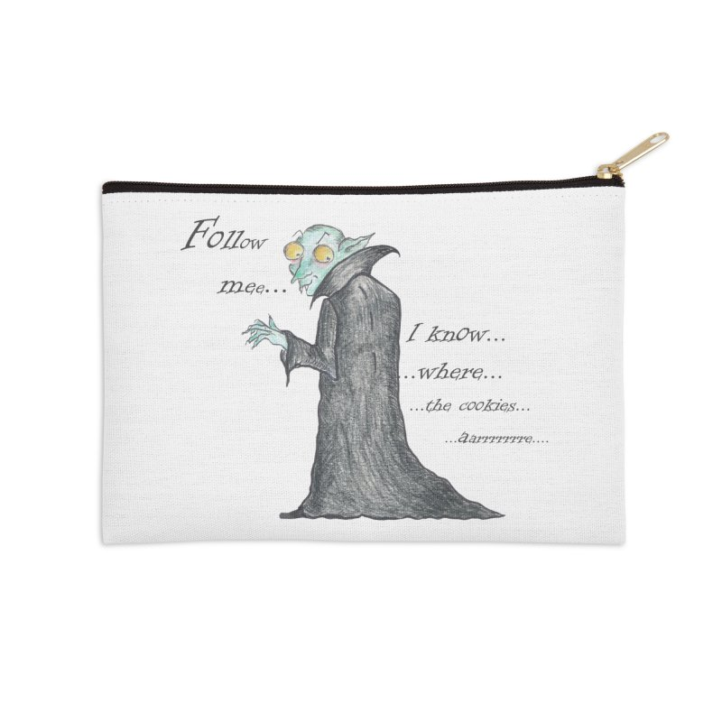Follow Me, says the Vampire Accessories Zip Pouch by Brigitte Doernerova - Imaginista Designs
