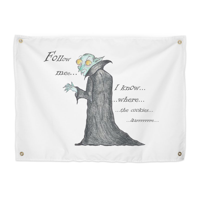 Follow Me, says the Vampire Home Tapestry by Brigitte Doernerova - Imaginista Designs
