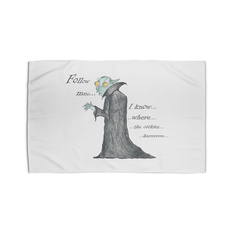 Follow Me, says the Vampire Home Rug by Brigitte Doernerova - Imaginista Designs