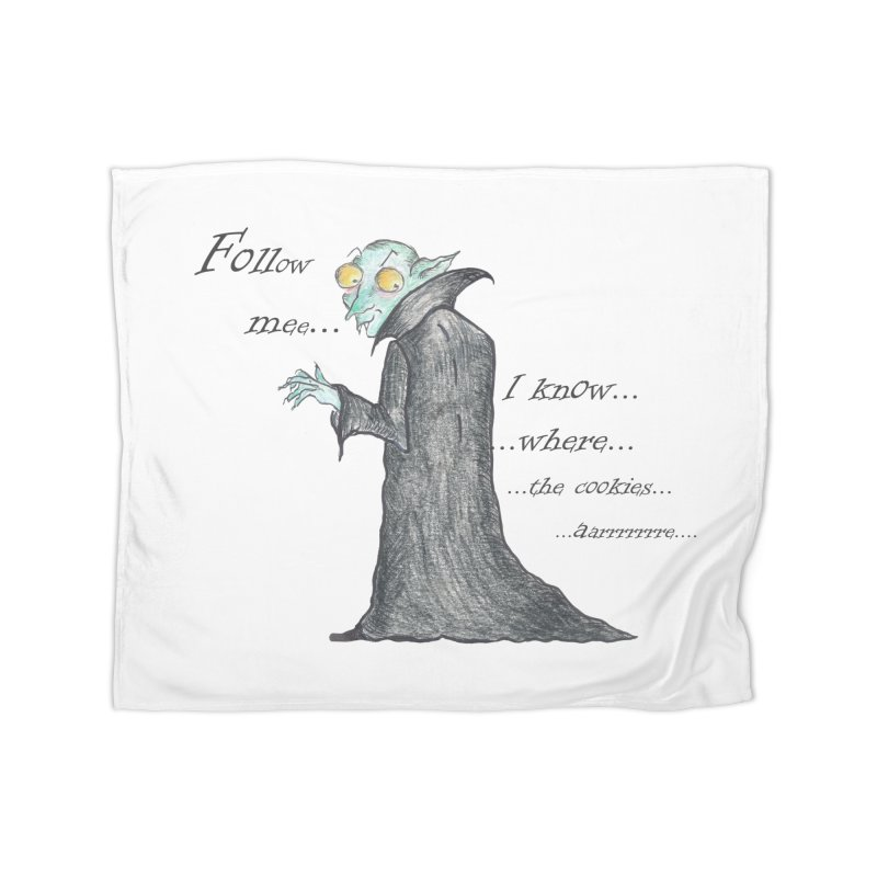 Follow Me, says the Vampire Home Blanket by Brigitte Doernerova - Imaginista Designs