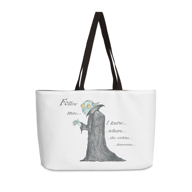 Follow Me, says the Vampire Accessories Weekender Bag Bag by Brigitte Doernerova - Imaginista Designs