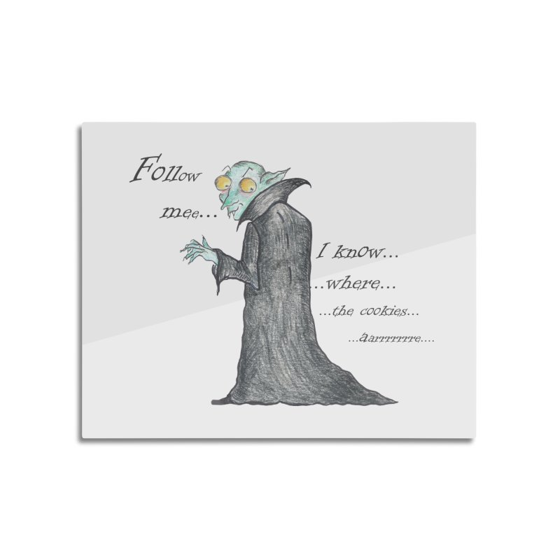 Follow Me, says the Vampire Home Mounted Aluminum Print by Brigitte Doernerova - Imaginista Designs