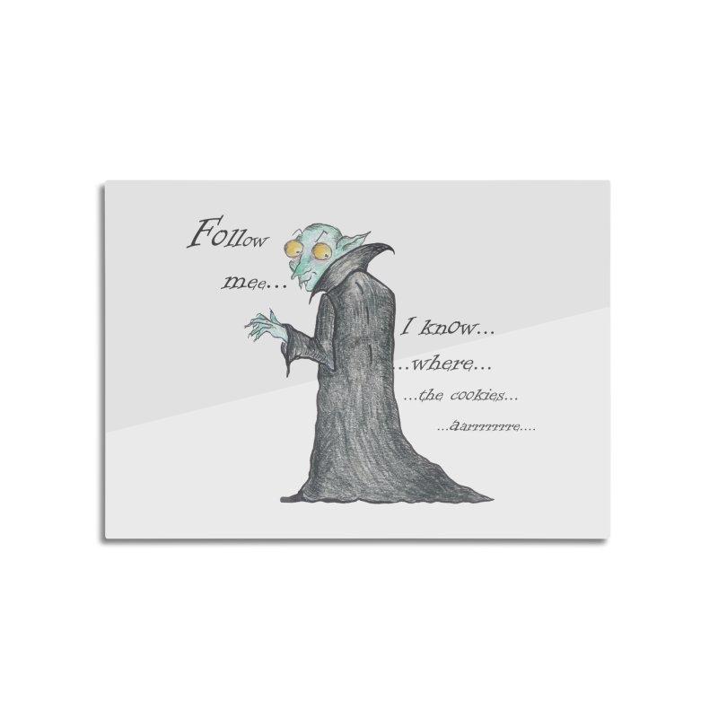 Follow Me, says the Vampire Home Mounted Aluminum Print by Brigitte Doernerova - Imaginista Designs