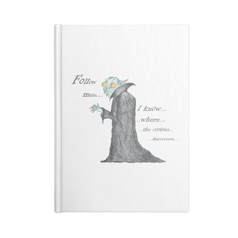 Follow Me, says the Vampire Accessories Lined Journal Notebook by Brigitte Doernerova - Imaginista Designs