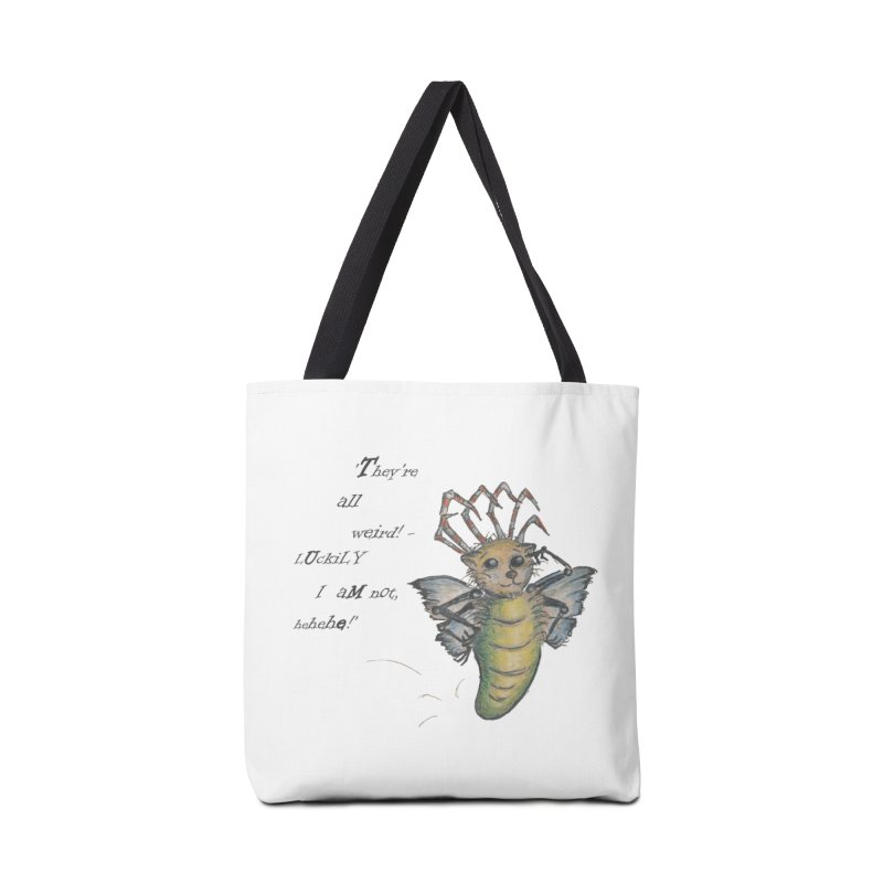They're All Weird, says the Mockmoth Accessories Tote Bag Bag by Brigitte Doernerova - Imaginista Designs