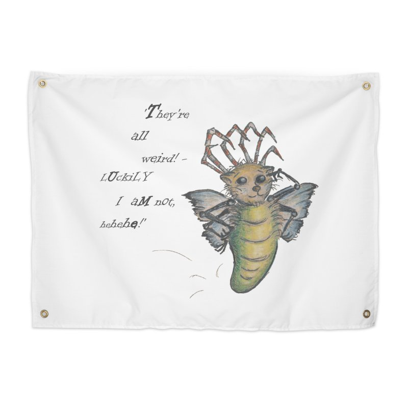They're All Weird, says the Mockmoth Home Tapestry by Brigitte Doernerova - Imaginista Designs