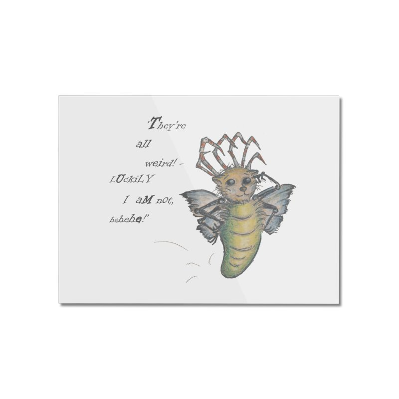 They're All Weird, says the Mockmoth Home Mounted Acrylic Print by Brigitte Doernerova - Imaginista Designs