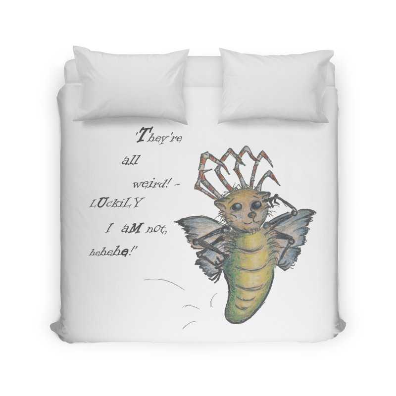 They're All Weird, says the Mockmoth Home Duvet by Brigitte Doernerova - Imaginista Designs