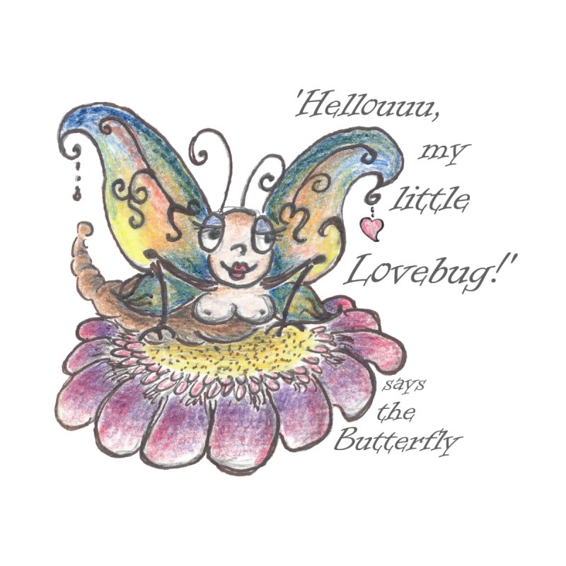 Hello, my little Lovebug, says the Butterfly Accessories Water Bottle by Brigitte Doernerova - Imaginista Designs