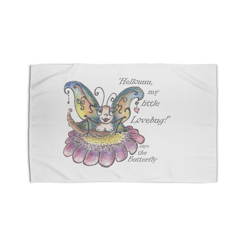 Hello, my little Lovebug, says the Butterfly Home Rug by Brigitte Doernerova - Imaginista Designs