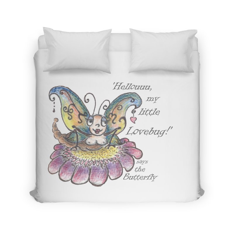 Hello, my little Lovebug, says the Butterfly Home Duvet by Brigitte Doernerova - Imaginista Designs