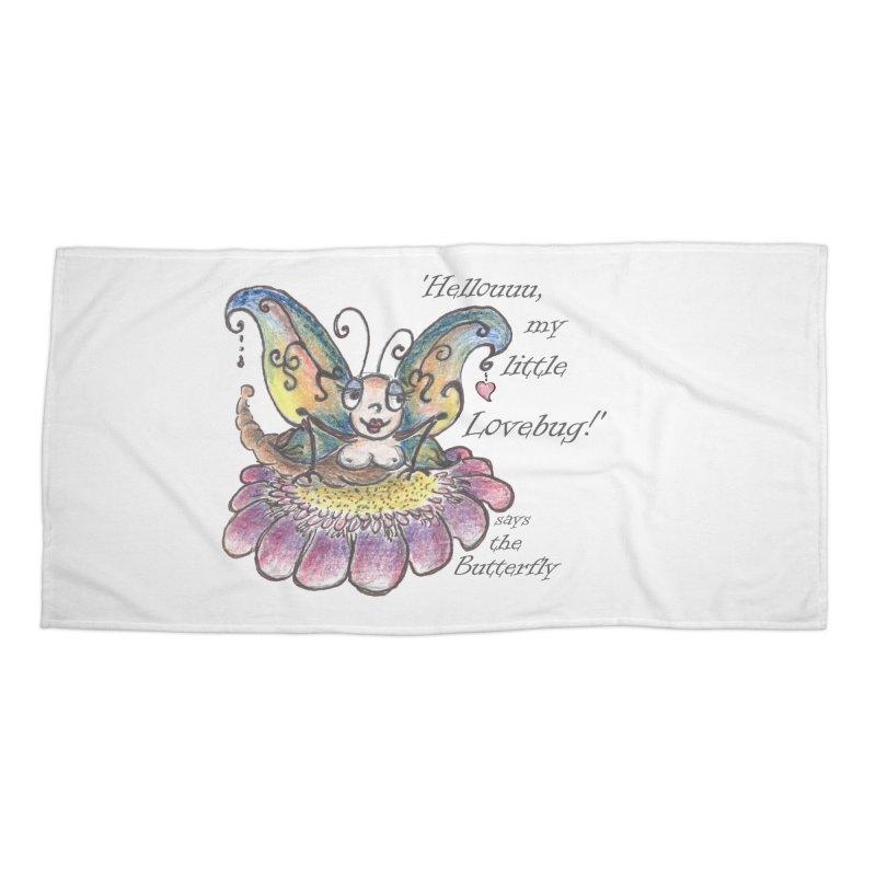 Hello, my little Lovebug, says the Butterfly Accessories Beach Towel by Brigitte Doernerova - Imaginista Designs