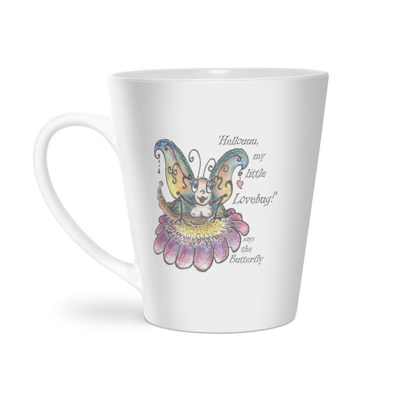 Hello, my little Lovebug, says the Butterfly Accessories Latte Mug by Brigitte Doernerova - Imaginista Designs