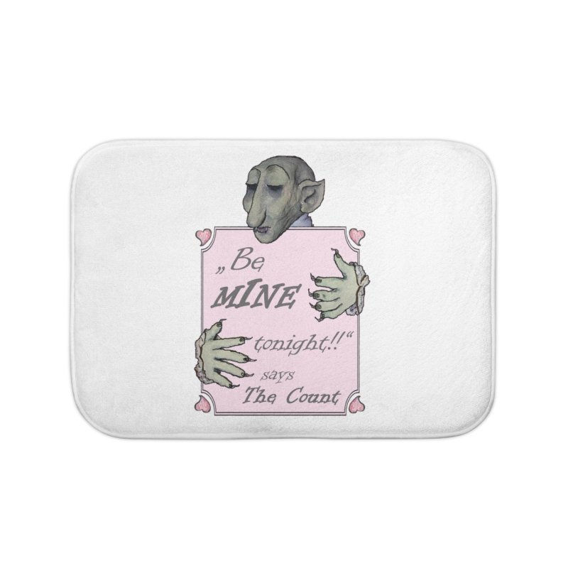 Be Mine Tonight, says The Count Home Bath Mat by Brigitte Doernerova - Imaginista Designs