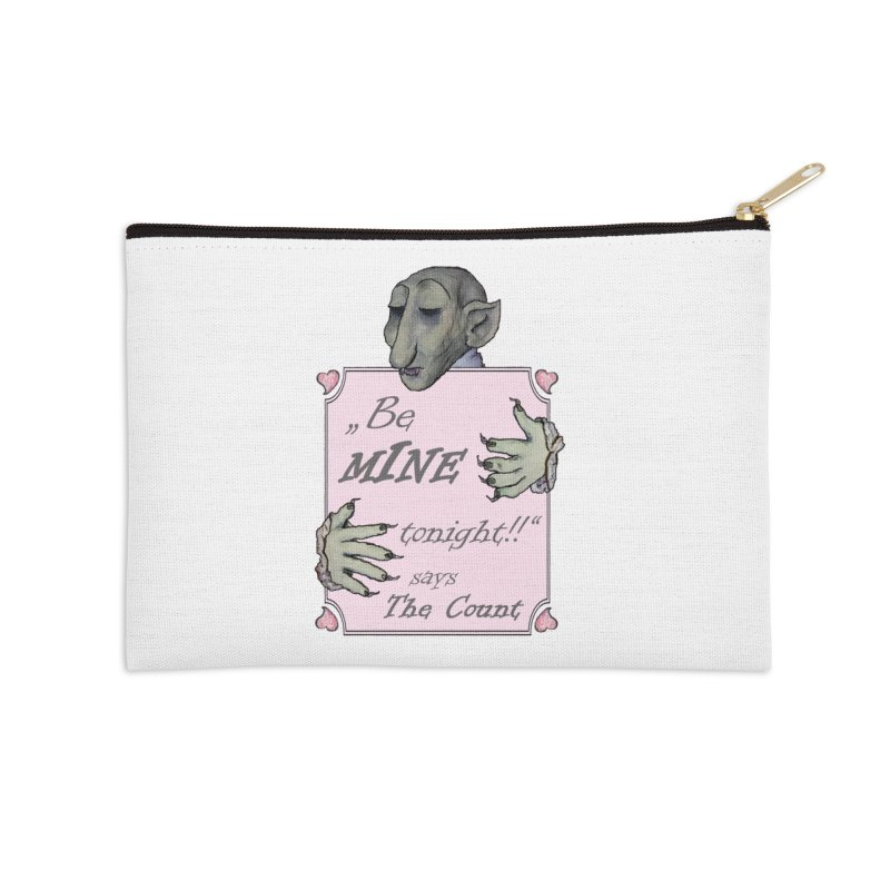 Be Mine Tonight, says The Count Accessories Zip Pouch by Brigitte Doernerova - Imaginista Designs