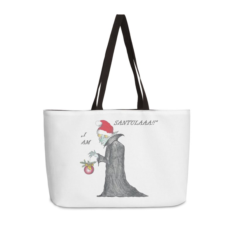 I Am Santula! - Says the Vampire, X-mas Edition Accessories Weekender Bag Bag by Brigitte Doernerova - Imaginista Designs