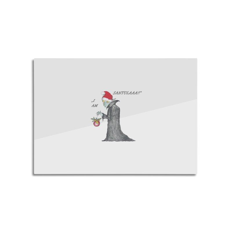 I Am Santula! - Says the Vampire, X-mas Edition Home Mounted Aluminum Print by Brigitte Doernerova - Imaginista Designs