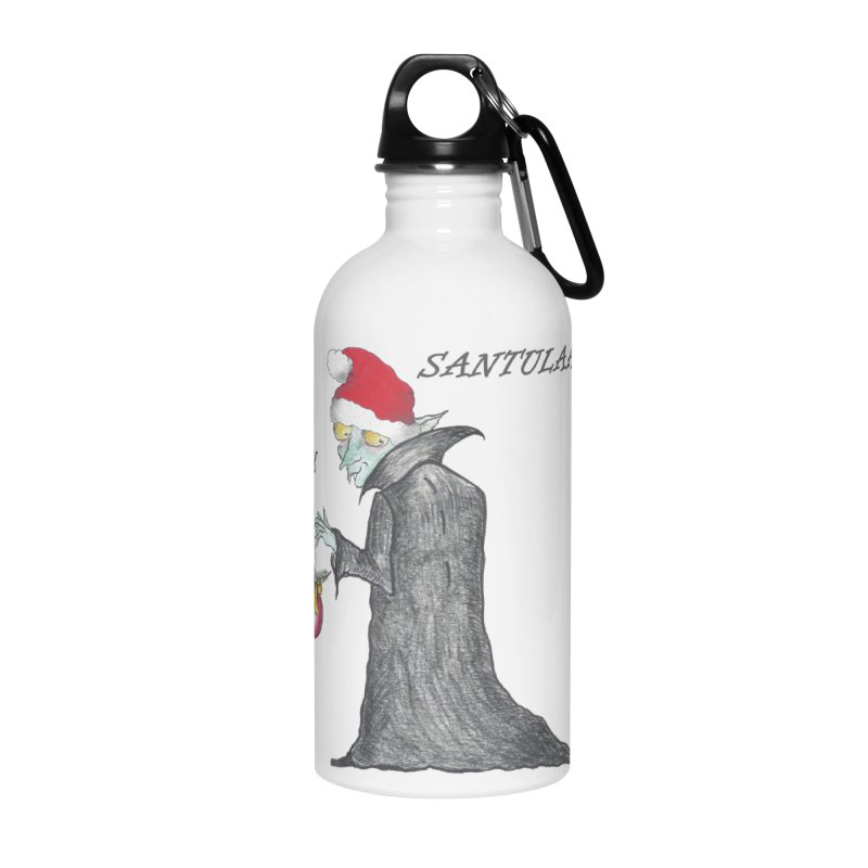 I Am Santula! - Says the Vampire, X-mas Edition Accessories Water Bottle by Brigitte Doernerova - Imaginista Designs