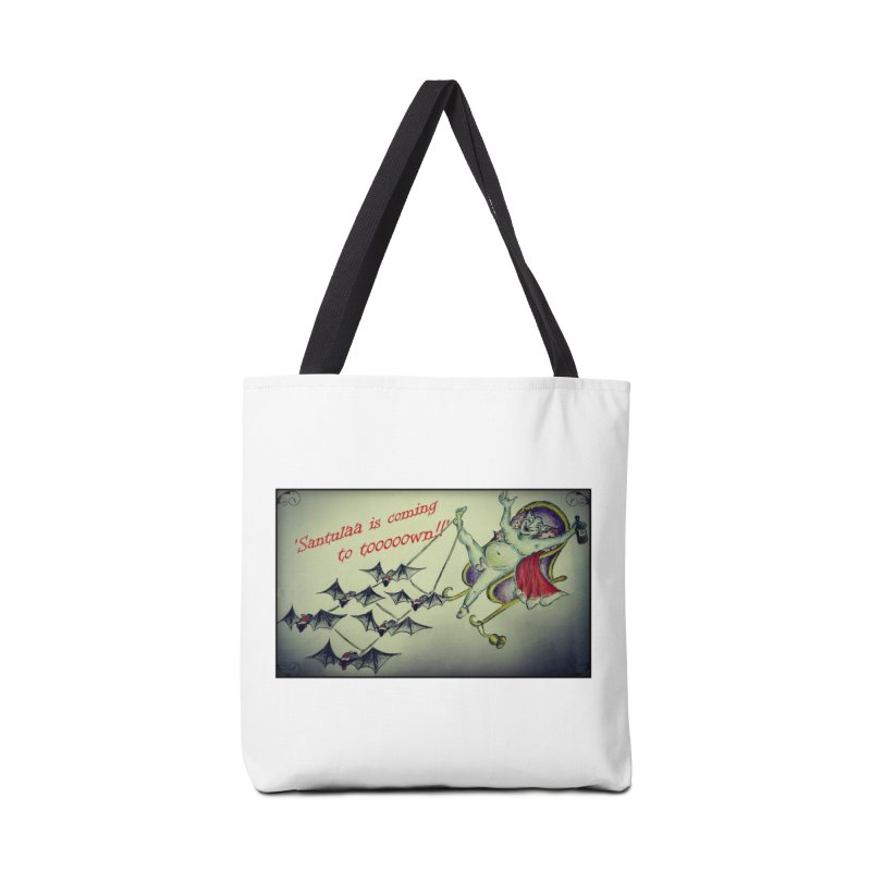 Santula Is Coming To Town, version 2 Accessories Tote Bag Bag by Brigitte Doernerova - Imaginista Designs