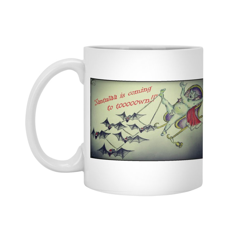 Santula Is Coming To Town, version 2 Accessories Standard Mug by Brigitte Doernerova - Imaginista Designs