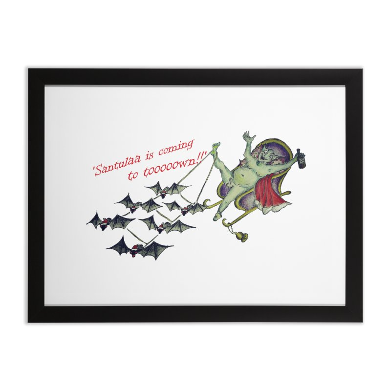 Santula Is Coming To Town, version 1 Home Framed Fine Art Print by Brigitte Doernerova - Imaginista Designs