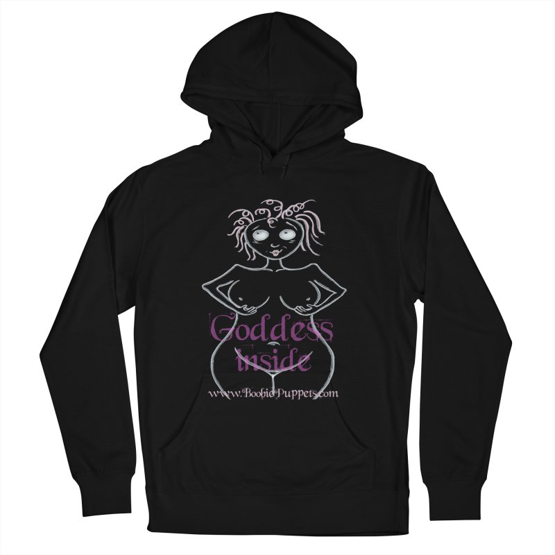 BoobiePuppets - Get The T-Shirt in Women's French Terry Pullover Hoody Black by Brigitte Doernerova - Imaginista Designs