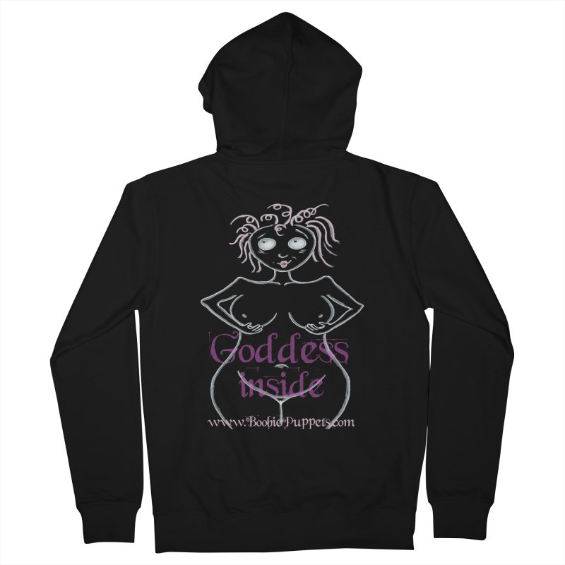 BoobiePuppets - Get The T-Shirt Women's French Terry Zip-Up Hoody by Brigitte Doernerova - Imaginista Designs