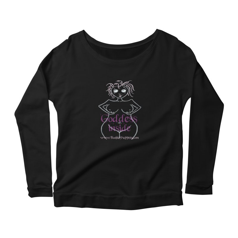 BoobiePuppets - Get The T-Shirt in Women's Scoop Neck Longsleeve T-Shirt Black by Brigitte Doernerova - Imaginista Designs