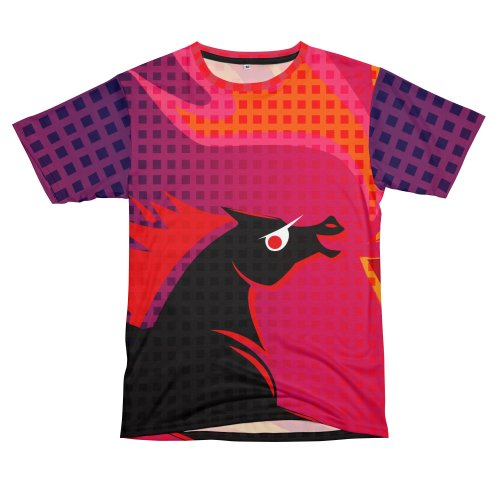 image for Fire Breathing Pony Cut and Sew TShirt