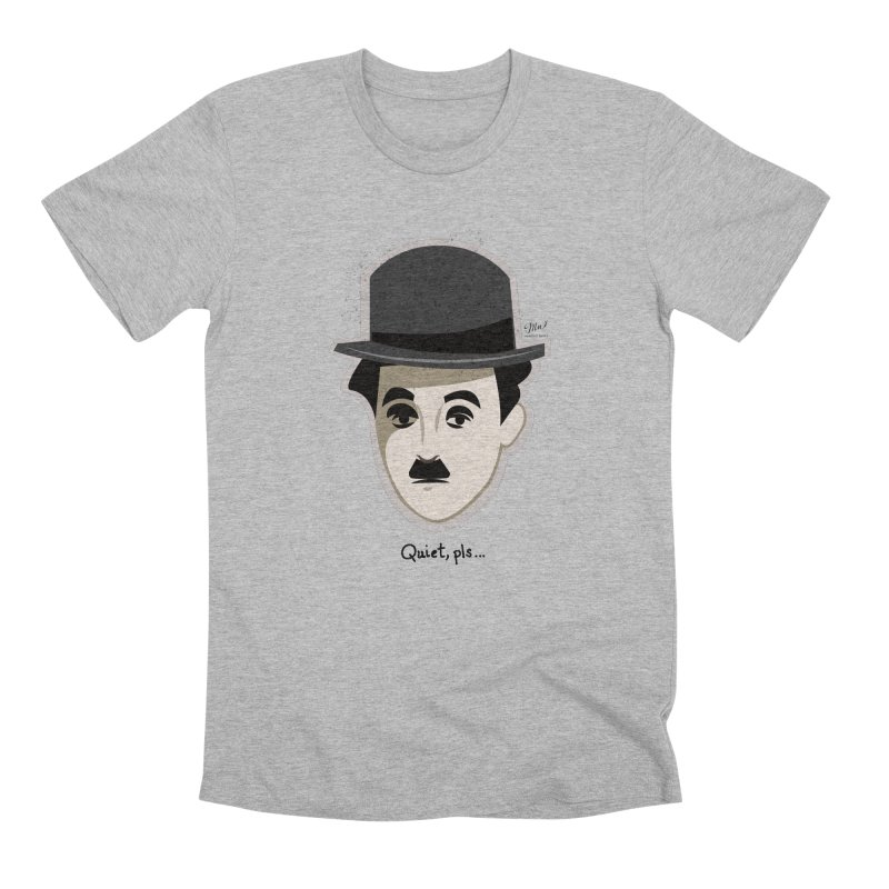Charlie Head Quiet Pls T-Shirt Men's T-Shirt by Designs by Meredith N.