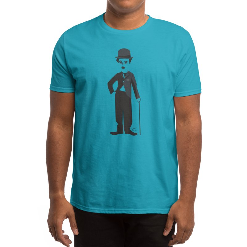 Charlie Chap T-Shirt Men's T-Shirt by Designs by Meredith N.