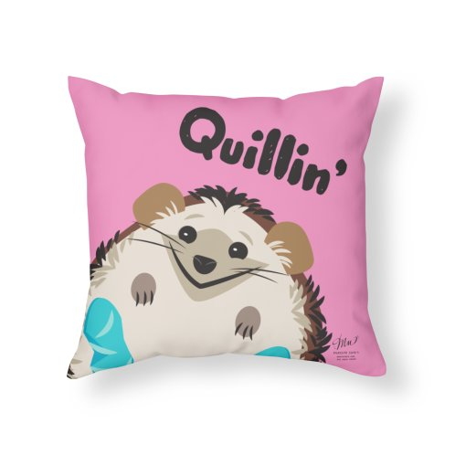image for Quillin' Hedgehog Pink Throw Pillow