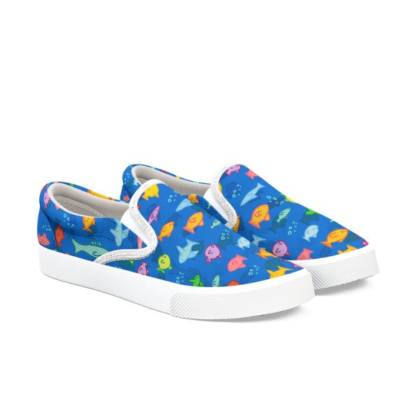 Product image for Fishy Slip-ons