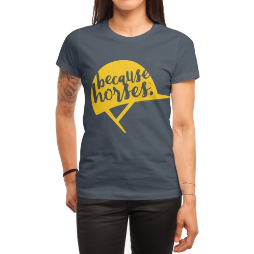 image for Because Horses Yellow Helmet Design