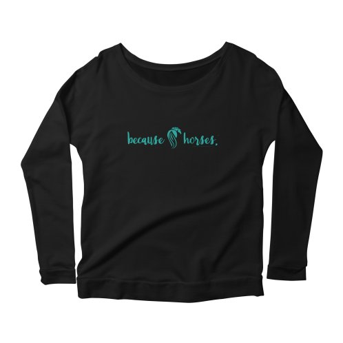 image for Because Horses Logo Teal