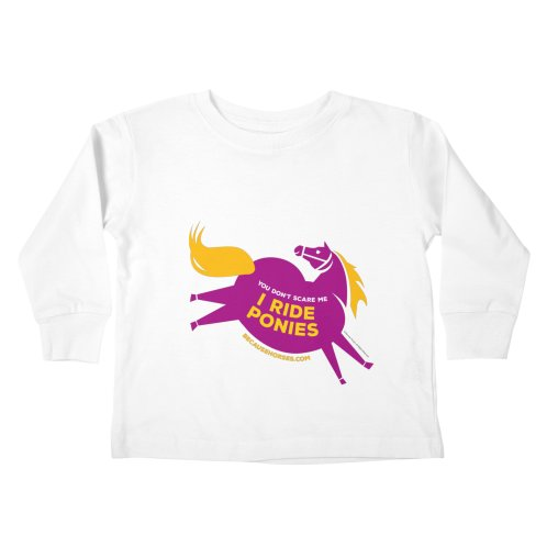 image for I Ride Ponies in Purple and Yellow
