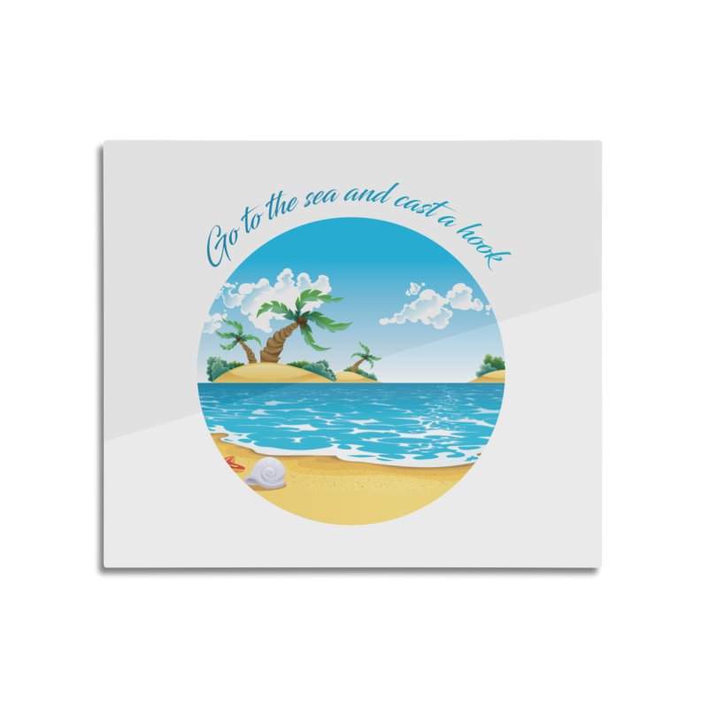 Go to the sea Home Mounted Aluminum Print by becominghero's Artist Shop