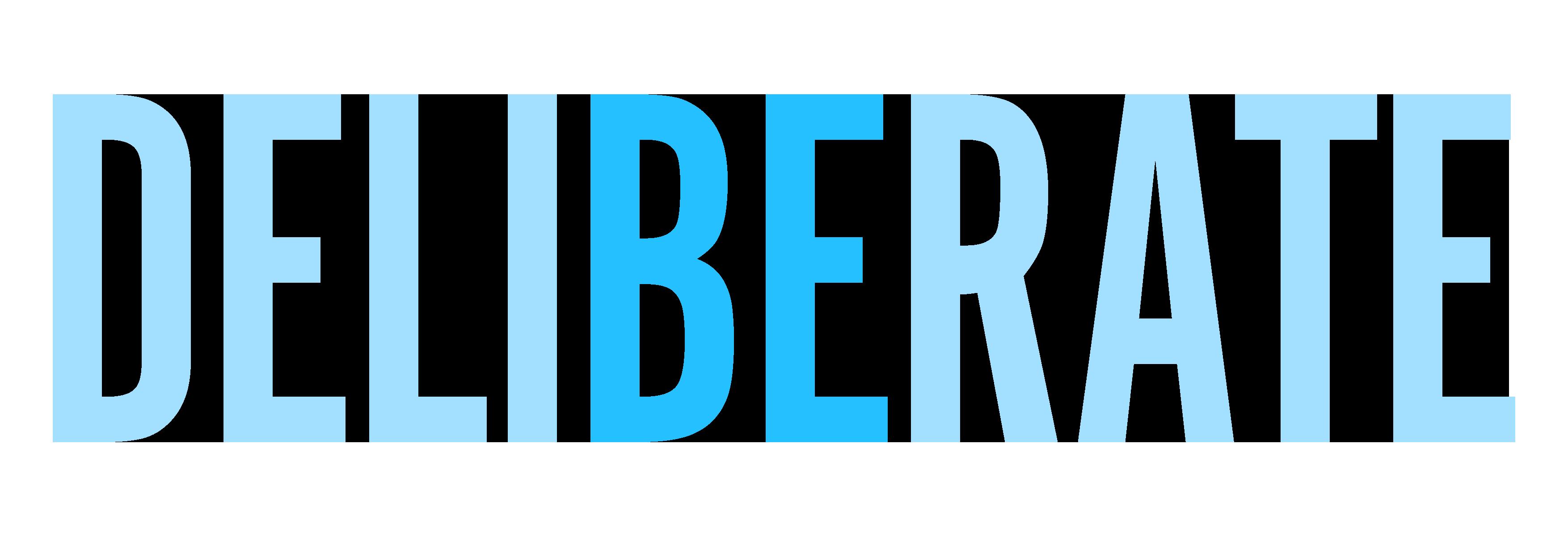 bedeliberate's Artist Shop Logo