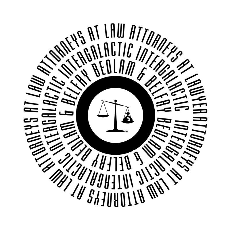 Bedlam & Belfry, Intergalactic Attorneys at Law concentric logo Men's T-Shirt by Bedlam & Belfry's Artist Shop