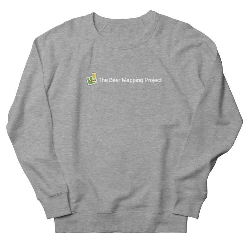 The Beer Mapping Project logo Men's French Terry Sweatshirt by The Beer Mapping Shop