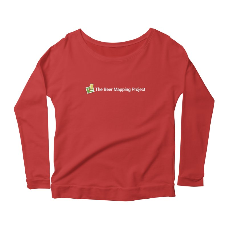 The Beer Mapping Project logo Women's Scoop Neck Longsleeve T-Shirt by The Beer Mapping Shop