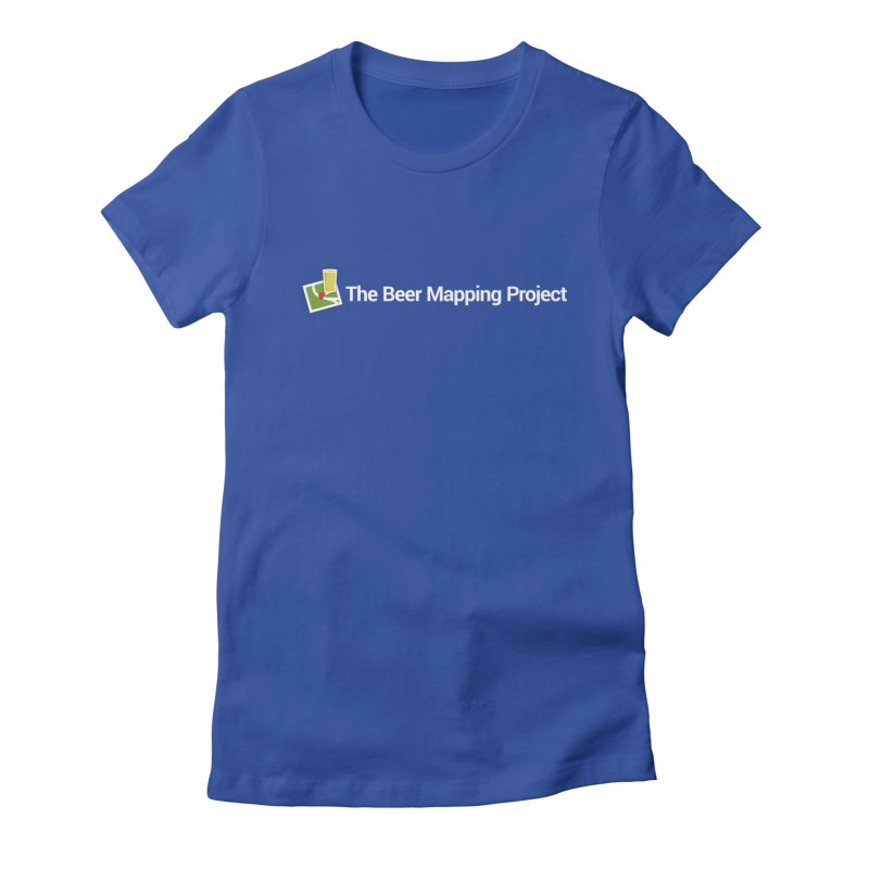 The Beer Mapping Project logo Women's Fitted T-Shirt by The Beer Mapping Shop