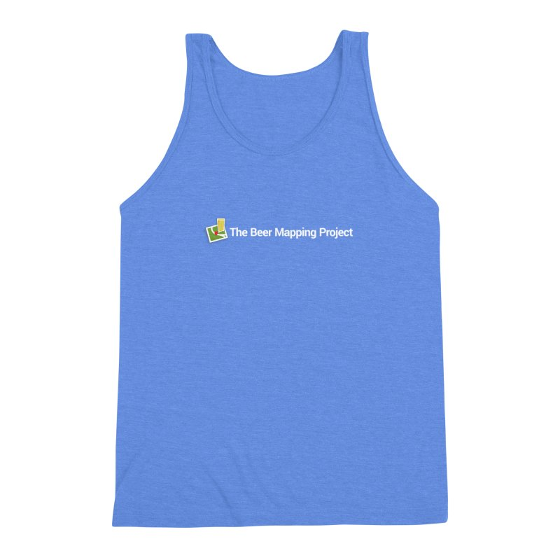 The Beer Mapping Project logo Men's Triblend Tank by The Beer Mapping Shop