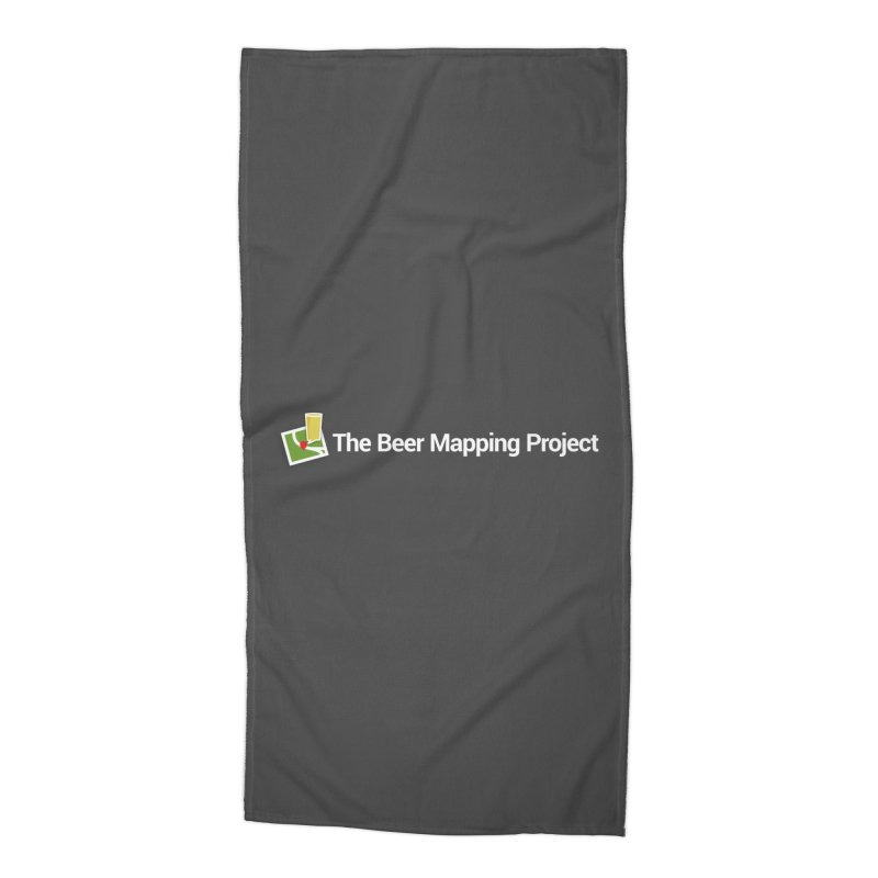 The Beer Mapping Project logo Accessories Beach Towel by The Beer Mapping Shop