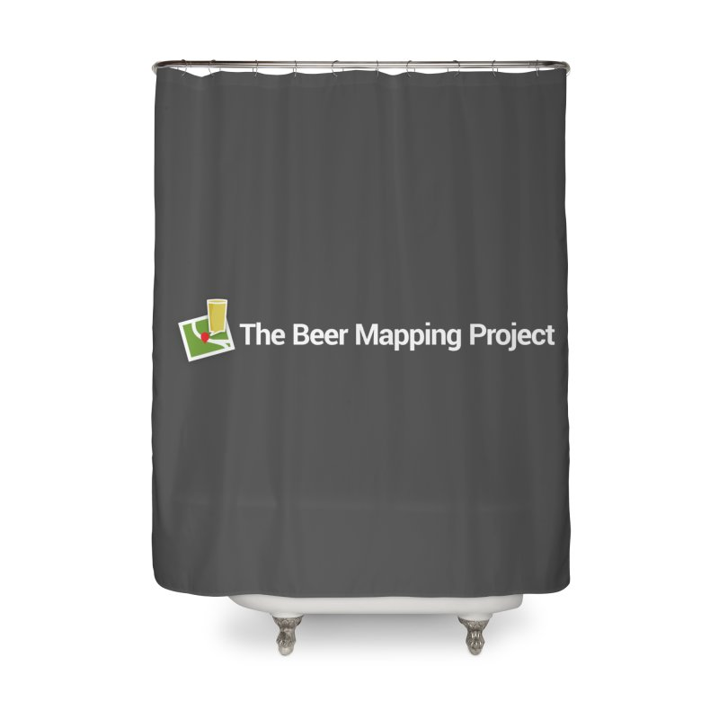 The Beer Mapping Project logo Home Shower Curtain by The Beer Mapping Shop